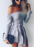 Women'S Solid Color Long-Sleeved Jumpsuit