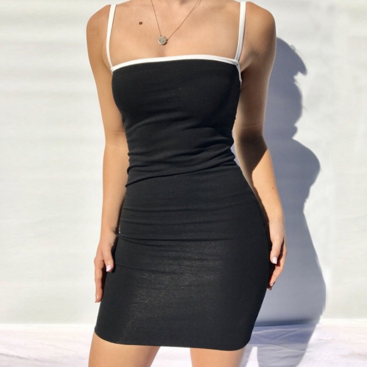 Women'S Sexy Sling Package Hip Dress