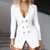 Deep V Women'S Long Sleeve Sexy Dress