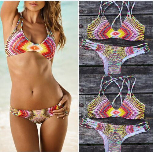 Fashion Printed Bikini Swimwear