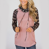 Long-Sleeved High-Necked Printing Sweater