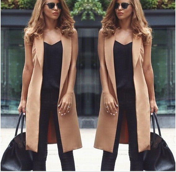 Design sleeveless cardigan jacket
