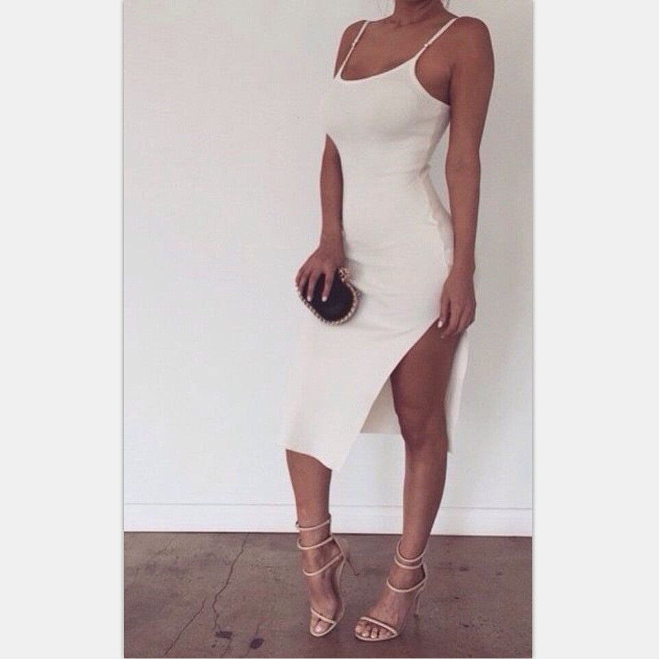 Sexy sling package hip dress