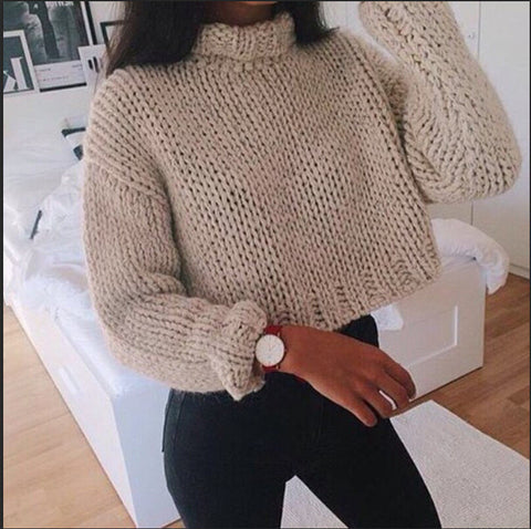 2018 Solid Color Casual Long-Sleeved Knit Shirt
