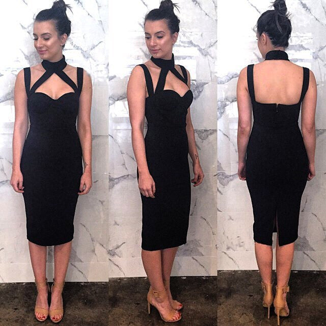 Sexy package hip Sleeveless dress