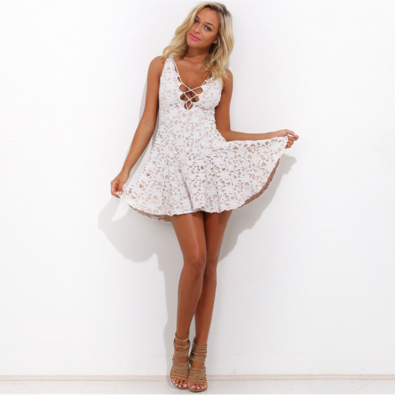 Sexy lace princess dress
