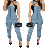 Slim Sexy Fashion Denim Women'S Jumpsuit