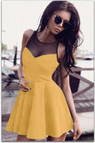 SEXY ROUND NECK SLEEVELESS DRESS