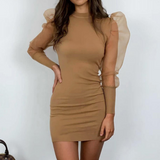 Round Neck Slim Package Hip Sexy Dress