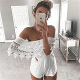 Sexy white lace jumpsuit