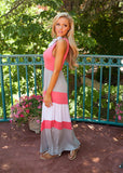 Women'S Round Neck Striped Dress