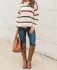 Casual Striped Knit Sweater