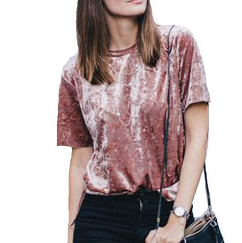 Loose sequined T-shirt