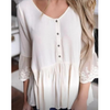 Casual Solid Color Button Top