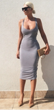 sexy sleeveless dress