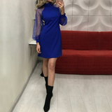 Long Sleeve Slim High-Necked Hip Dress