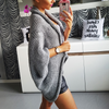Solid Color Long Sleeve Knitting Sweater Coat