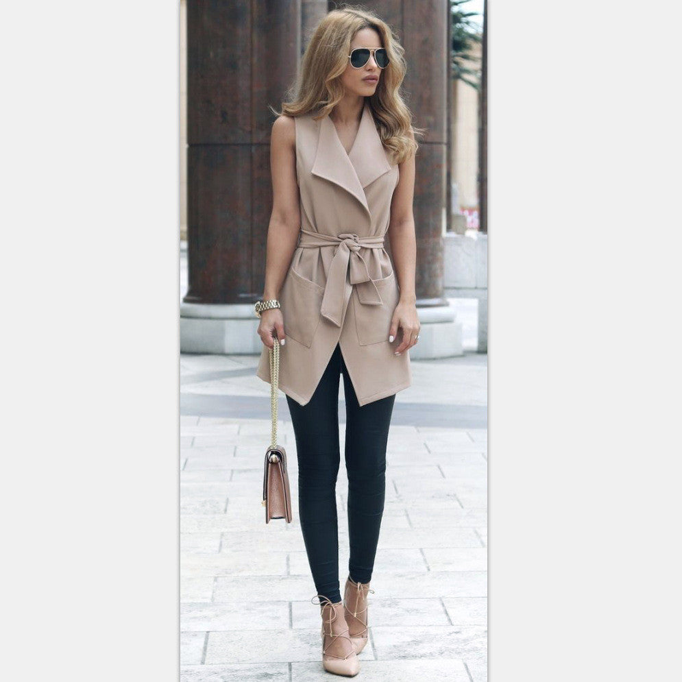 Fashion sleeveless cardigan jacket