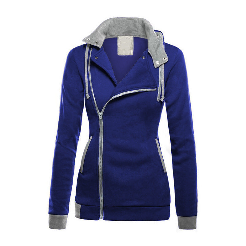 Long sleeved color hooded sweater