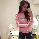 Fashion embroidery round neck sweater