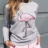Loose round neck long sleeve printed sweater
