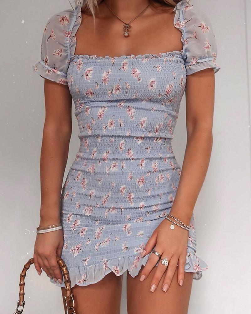 Casual Short Sleeve Printed Dress