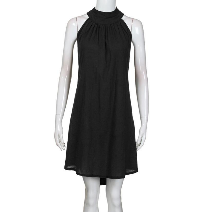 Women'S Round Neck Vest Dress