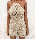 Sexy Embroidered Lace Sling Jumpsuits