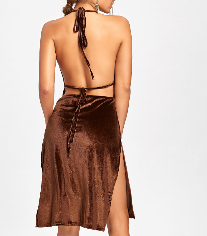 Fashion Women'S Sexy Sleeveless Backless Dress