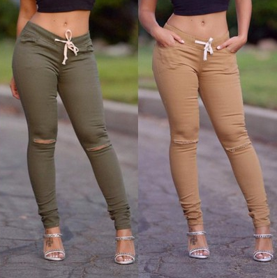 Sexy High Waist Zipper Denim Pants