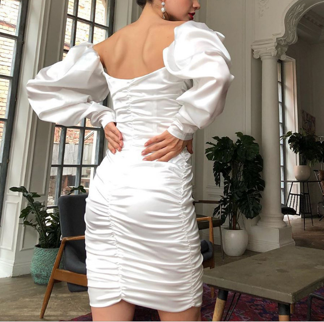 Design One Shoulder Sexy High Waist Dress