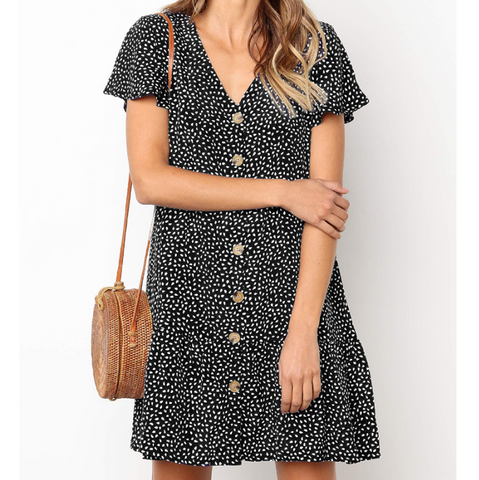 Fashion Printing Sling Dress