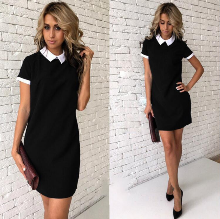 Women'S Short Sleeves Pack Hip Dress