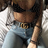 Women'S Sequins Long-Sleeved Round Neck T-Shirt