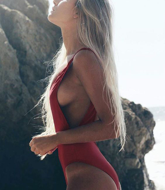 Sexy one piece bikini backless swimwear