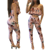 Women's Sexy Printed Two-piece Trousers