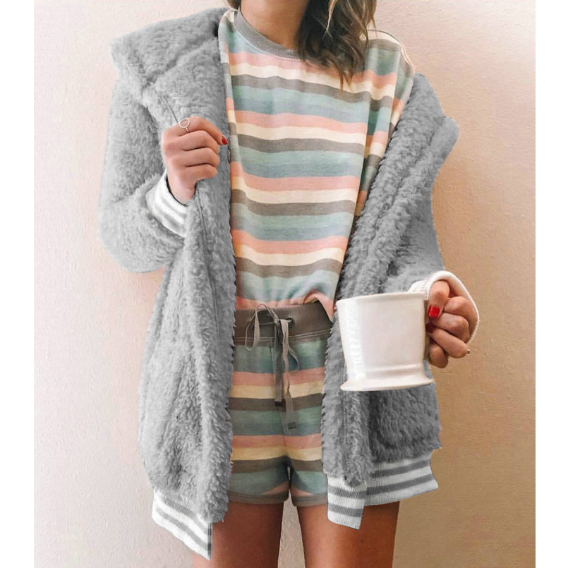 Fashion Solid Color Long-Sleeved Cardigan Jacket