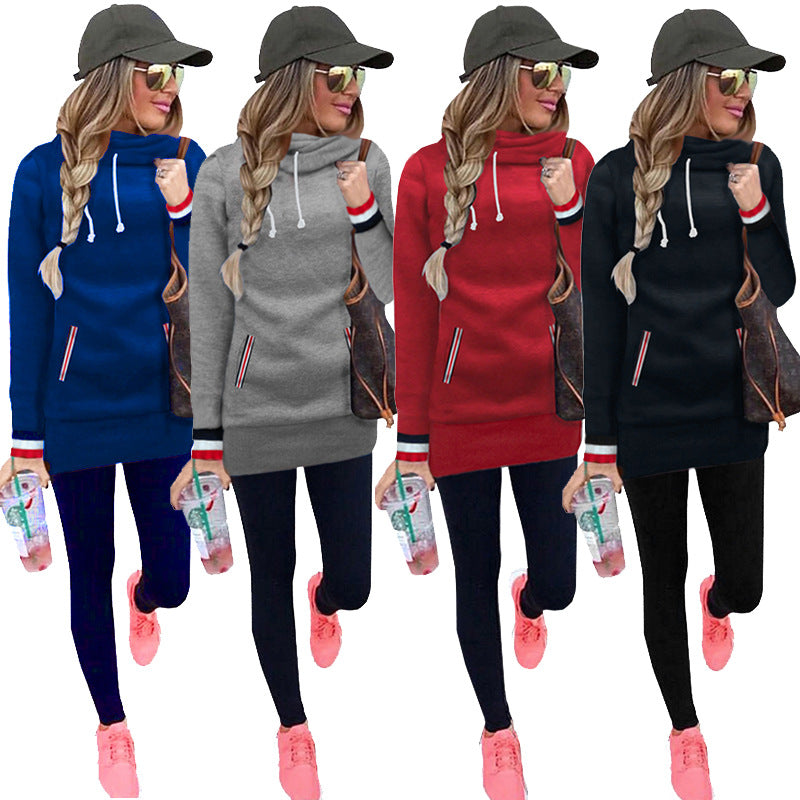 Women Solid Color Long Sleeve Sweater