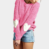 Women'S Round Neck Long Sleeve Knitted Sweaters