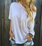 Solid Color Short-Sleeved T-Shirt