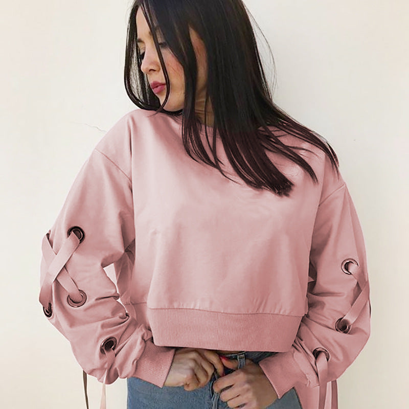 Loose Round Neck Long Sleeves Sweater