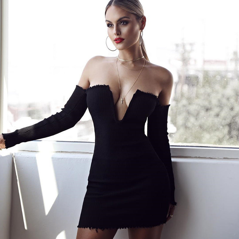 2018 Women'S Sexy Solid Color Backless Dress