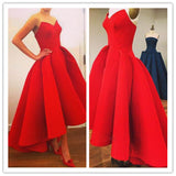 FASHION RED TALL WAIST SLEEVELESS DRESS