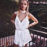 Sexy Fashion Sequined Lace Sling Jumpsuit
