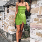 Solid Color Fashion Sling Sleeveless Dress
