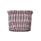Women Plaid Vest Wrapped Chest T-Shirt