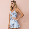 Sexy Sling Bowknot Backless Printed Jumpsuit
