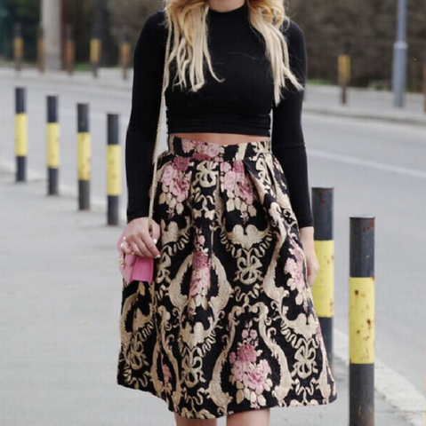 Fashion White Printed Fringed Wrap Skirt