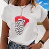 Printed Short Sleeve Round Neck T-Shirt