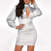 Round Neck Sexy Women's Long Sleeve Dress